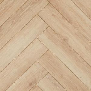 Floer Visgraat Laminaat Vloer - Mat Wit Eiken 64 x 14,3 x 1,2 cm