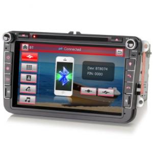 Cartronix Volkswagen DAB+ Navigatie Bluetooth 8 Inch voor Seat Skoda VW – Rns 510 Look - beste dubbel din radio