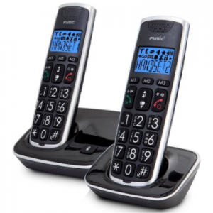 Fysic FX-6020 - Big Button Dect telefoon - 2 handsets